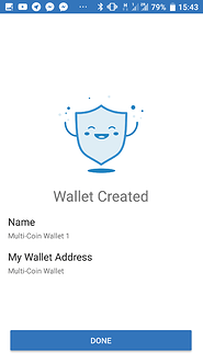 New wallet created!