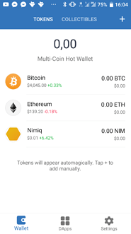 Nimiq on your Trust Wallet home screen