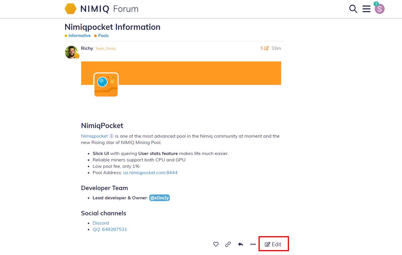 Nimiq Forum - How to edit a Wiki - Community Tutorials - Nimiq Forum